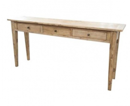 Elm timber console - 3 drawers
