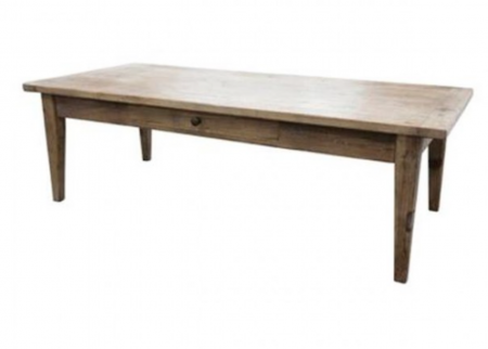 Elm coffee table with 1 drawer