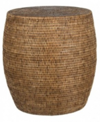 Wicker side table - Natural finish