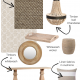 sisal, wicker, timber