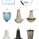 Bo ho chic - beaded chandelier