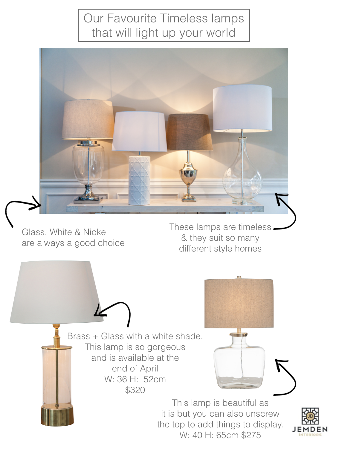 Timeless lamps