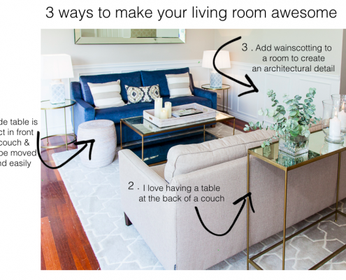 3 ways to make your living room awesome