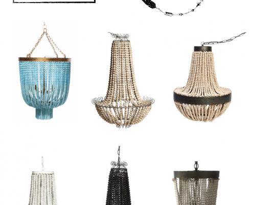 Bo ho chic - beaded chandelier
