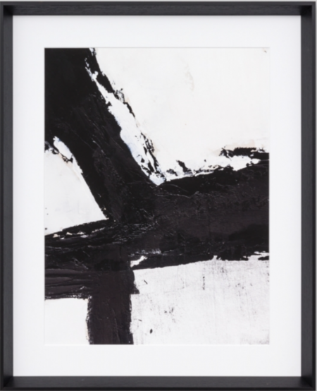 Black & white abstract in black frame