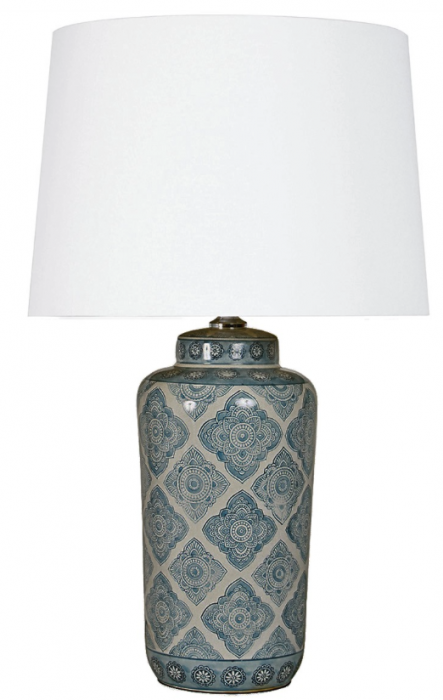 Blue & White Ceramic Lamp