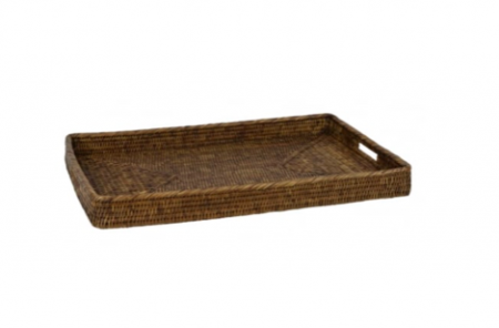 wicker tray natural large