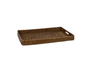 wicker tray natural