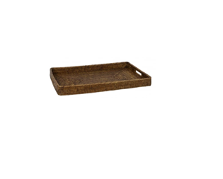 wicker tray natural small