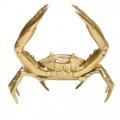 Brass-crab-coastal-decor