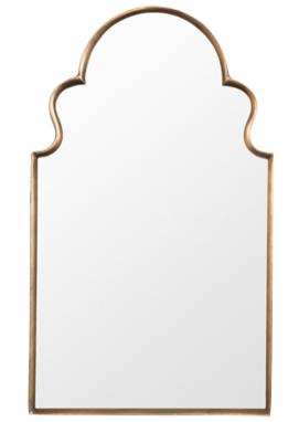 brass arch mirror