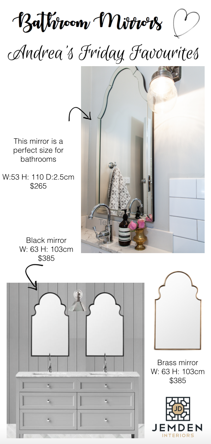 andreas friday favourites - bathroom mirrors