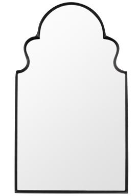 Modern arch mirror in black