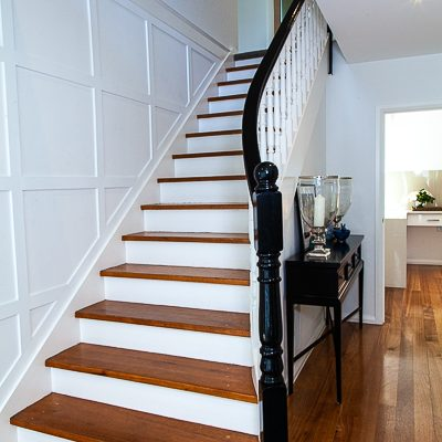 hamptons staircase make over